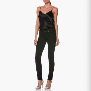 PAIGE 'Skyline Skinny' Black Ankle Jeans